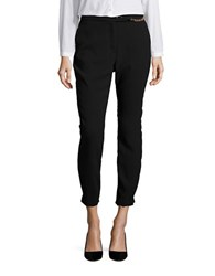 Ivanka Trump Crepe Cropped Dress Pants Black