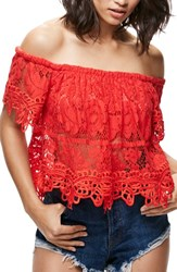 Free People Women's Lace Off The Shoulder Tank