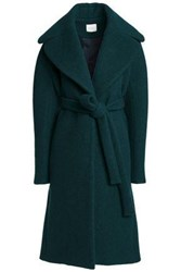 Delpozo Brushed Wool And Mohair Blend Coat Emerald
