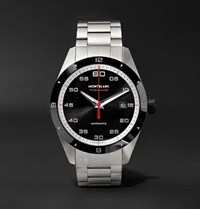Montblanc Timewalker Date Automatic 41Mm Stainless Steel And Ceramic Watch Black