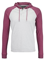 Your Turn Long Sleeved Top Light Grey Bordeaux Mottled Bordeaux