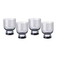Pols Potten Ciro Glass Tumblers Grey Set Of 4