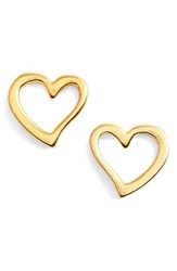 Alex And Ani Heart Earrings Gold