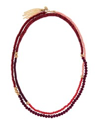 Lydell Nyc Extra Long Beaded Necklace Pink Multi