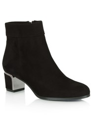 Daniel Enthusiasm Metal Trim Heeled Ankle Boots Black