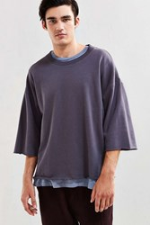 Urban Outfitters Uo Frazier 3 4 Sleeve Sweatshirt Black
