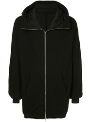 Julius Hooded Zip Up Jacket Black