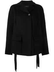 Joseph Single Breasted Coat Black