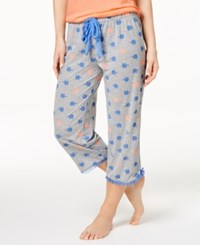 By Jennifer Moore Printed Cropped Pajama Pants Created For Macy's Elephants