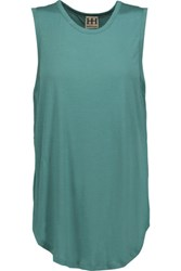 Haute Hippie Modal And Crepe Top Teal