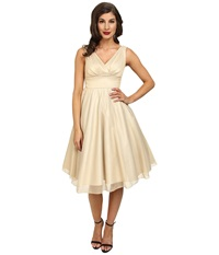 Stop Staring Dream Swing Dress Champagne Women's Dress Gold