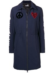Love Moschino Peace And Parka Blue