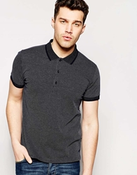 Peter Werth Birdseye Stitch Polo Shirt Navy