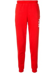 Puma Printed Track Pants Red