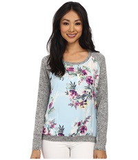 Kut From The Kloth Yalitza Cosmo Sky Women's Long Sleeve Pullover Blue