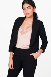 Boohoo Lucy Collared Lined Woven Tailored Blazer Black