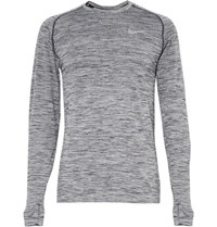 Nike Running Knit Panelled Dri Fit Top Gray