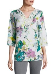Context Plus Floral Tunic White Enamel