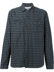 White Mountaineering Checked Shirt Grey