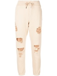 Nsf Sayde Distressed Track Trousers Neutrals