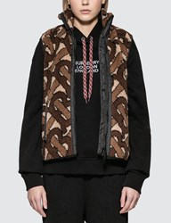 Burberry Tb Logo Gilet Brown