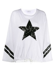 P.A.R.O.S.H. Sequin Star Sweatshirt White