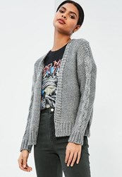 Missguided Grey Chunky Cardigan
