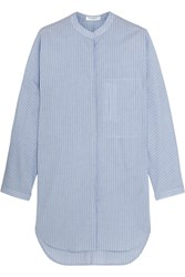 Equipment Elsie Striped Cotton Tunic Blue