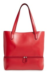 Lodis Audrey Amil Leather Commuter Tote Red