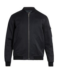 A.P.C. Alain Cotton And Linen Blend Bomber Jacket Navy