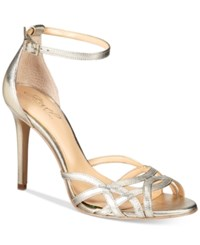 Jewel By Badgley Mischka Haskell Strappy Sandals Women's Shoes Gold