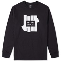 Undefeated Long Sleeve Anytime Tee Black