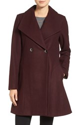 Michael Michael Kors Women's Double Breasted Swing Coat Burgundy