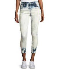J Brand Alana Bleached High Rise Skinny Ankle Jeans Trance Blue White