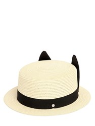 Karl Lagerfeld Small Brimmed Woven Hat