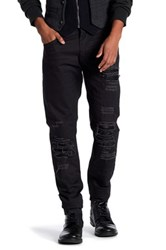 Ron Tomson Distressed And Patched Regular Fit Jean Black