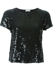 P.A.R.O.S.H. Sequin T Shirt Black