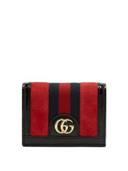 Gucci Ophidia Suede Square Wallet Red