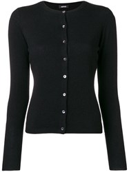 Aspesi Cashmere Fitted Cardigan Black