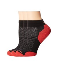 Smartwool Phd Run Elite Low Cut Pattern Black Hibiscus Women's Low Cut Socks Shoes