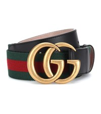 Gucci Gg Marmont Web Belt Red