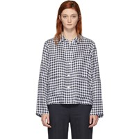 Mansur Gavriel Blue Gingham Worker Shirt