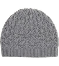 Johnstons Textured Ribbed Cashmere Beanie Coyote