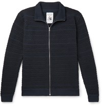 S.N.S. Herning Virgin Wool Zip Up Cardigan Blue