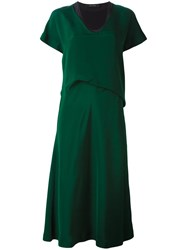 Cedric Charlier Layered Dress Green