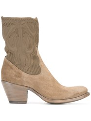 Rocco P. Western Boots Nude Neutrals