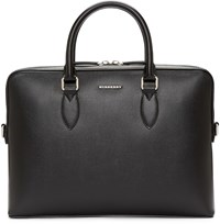 Burberry Black The Barrow Briefcase