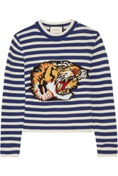 Gucci Intarsia Wool Sweater Blue