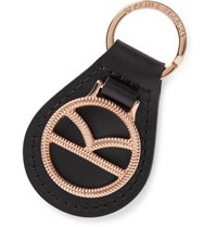 Kingsman Deakin And Francis Leather And Rose Gold Plated Key Fob Black