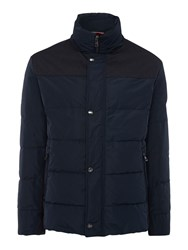 Bugatti Quilted Down Jacket Navy